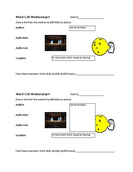 Word Cell Study: anti, aud