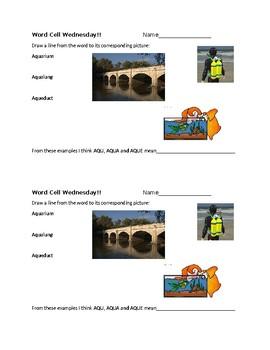Word Cell Study: aqua, arium