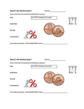 Word Cell Study: cent, chron