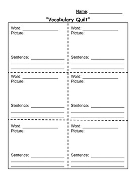 Word Centers for Independent Student Work - Vocabulary and Spelling