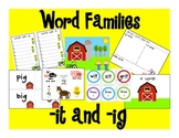 Word Centers: -it and -ig (Farm Theme)