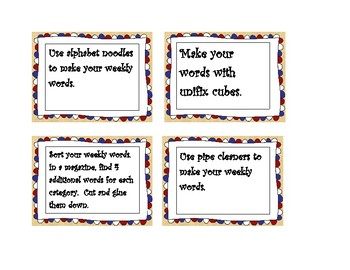 Word Challenge Cards