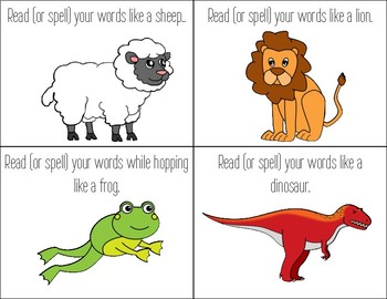 Word Chant Cards