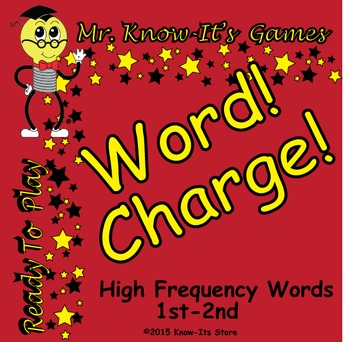 Word Charge! Game (Sight Words/High Frequency Words)