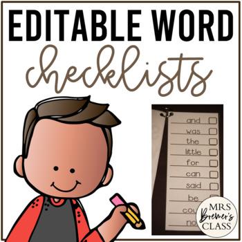Word Checklists EDITABLE