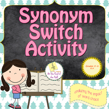 Word Choice Activity Using Synonyms