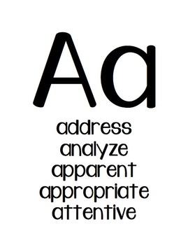 Word Choice Alphabet