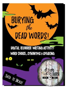 Word Choice: Burying the Dead Words Halloween Activity