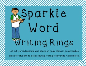 Word Choice Cards - Sparkle Words for Overused Words