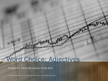 Word Choice: Descriptive Adjectives