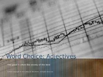 Word Choice: Descriptive Adjectives