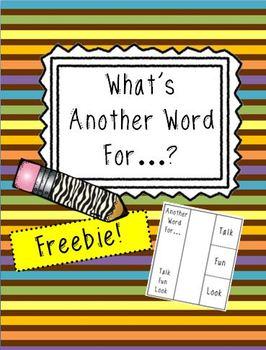 Word Choice Foldable