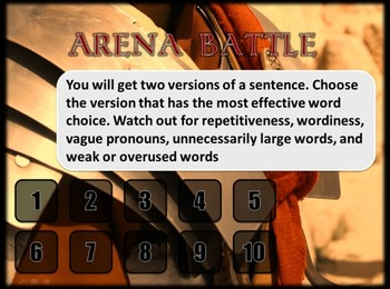 Word-Choice Gladiators - Fun Review Game
