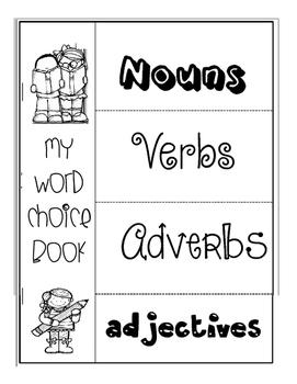 Word Choice Grammar & Parts of Speech Flip Book