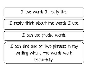 Word Choice I CAN Statements