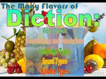 Word Choice PowerPoint Lesson:  Denotations, Connotations, Diction