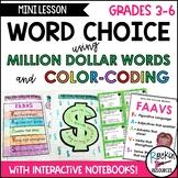 Word Choice Using Million Dollar Words and Editable Color-Coding