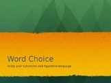 Word Choice PPT and practice page
