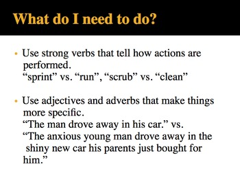 Word Choice Powerpoint / Activity with Spooky Said is Dead Handout and More....