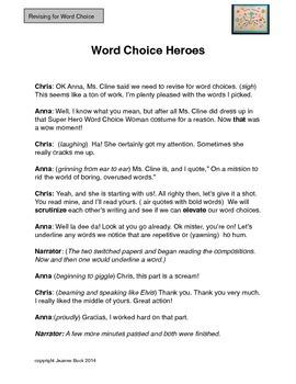 Word Choice-Revise and Rescue