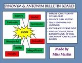 Word Choice (Synonym and Antonym) Bulletin Board Kit