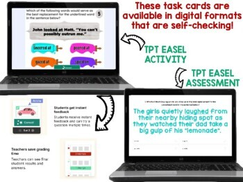 Word Choice Task Cards