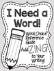 Word Choice Word Lists Reference Guide for Writing