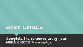 Word Choice Writing Interactive Review Game