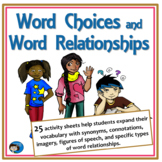 Word Choices Activity Sheets