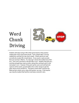 Word Chunk Driving