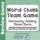 Word Chunk Team Game