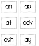 Word Chunk/Word Families Flash Cards