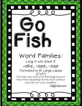 Word Chunks Go Fish Packet