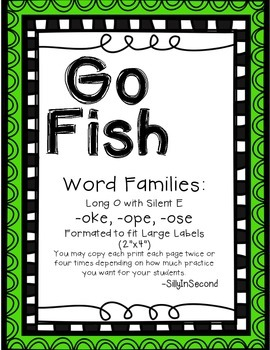 Word Chunks Go Fish Packet