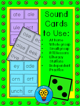 Phonics Patterns -- Sound Cards -- ELA - RTI