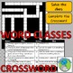 Word Classification - 11 Word Types - Solve the clues to complete the crossword