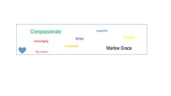 Word Cloud Bookmark Template