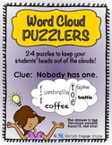 Word Cloud Puzzlers
