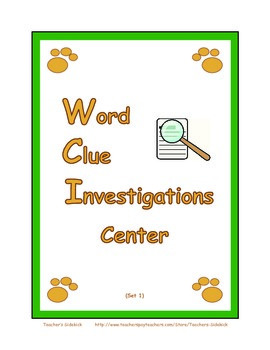 Word Clue Investigations Center
