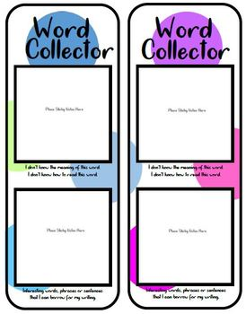 Word Collector Bookmark