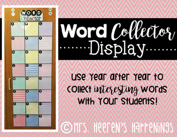 Word Collector Display