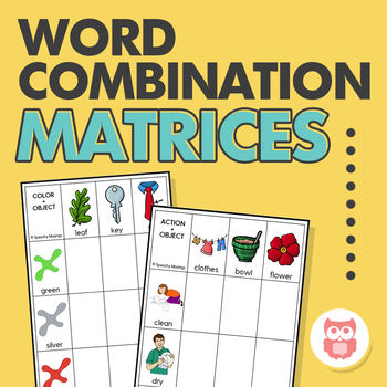 Word Combination Matrices: Visuals for Early Syntactic Structures