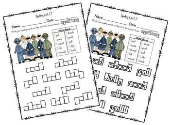 Word Configurations-Worksheets for Reading Street Spelling Grade 2
