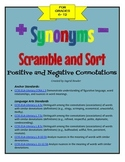 Word Connotations Scramble and Sort