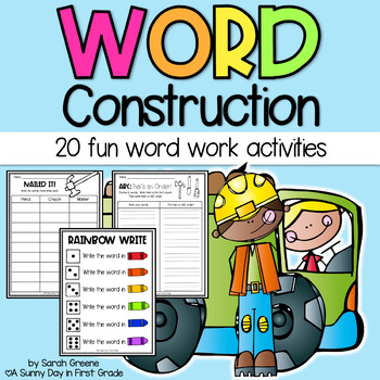 Word Construction {20 fun word work activities!}