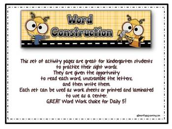 Word Construction - Making Words Kinder English Edition