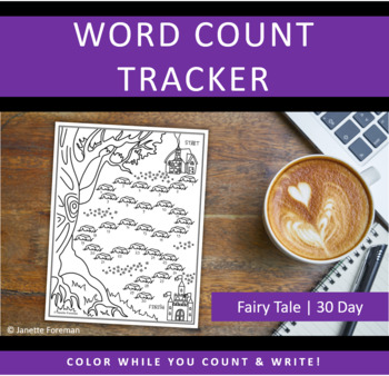 Word Count Tracking Sheet | 30 Day Goals | Fairy Tale | GREAT for NANOWRIMO!