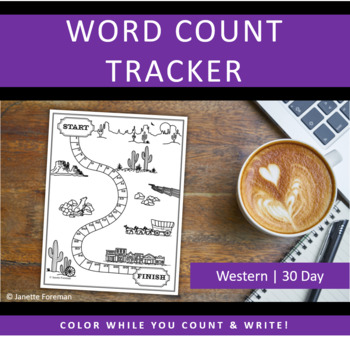 Word Count Tracking Sheet | 30 Day Goals | Western | GREAT for NANOWRIMO!