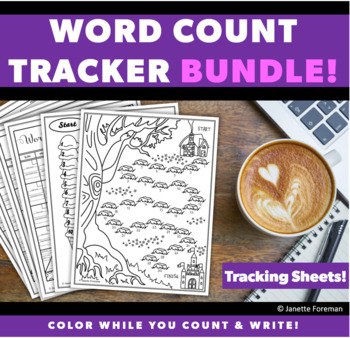 Word Count Tracking Sheets BUNDLE! | NaNoWriMo | Writing Activities | Goal Sheet