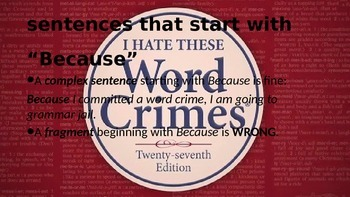 Word Crimes--Tips to Avoid BAD WRITING